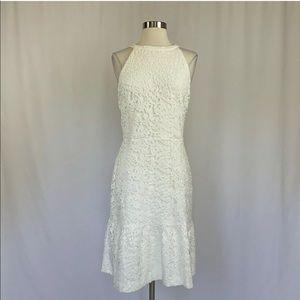 Ralph Lauren Floral Lace Halter Midi Dress